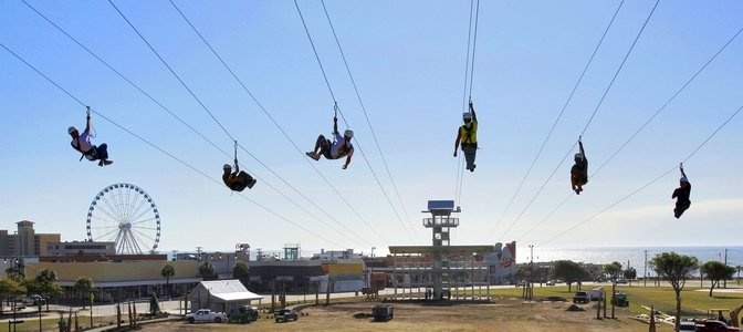 Rope Course, Zip Lining and Skydiving in Myrtle Beach